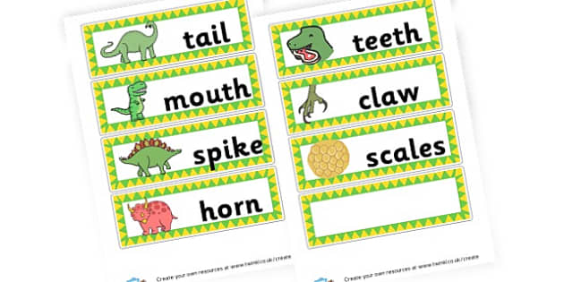 dinosaurs - Dinosaurs Keywords Primary Resources, letters, phonics, sounds