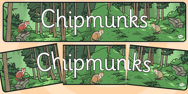 Chipmunks Display Banner - chipmunks, display banner, display, banner