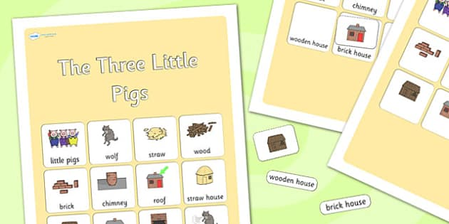The Three Little Pigs Vocabulary Poster - the three little pigs, vocabulary, vocabulary poster, poster, classroom display, classroom poster, display poster