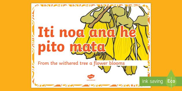 Whakatauki  Iti noa ana Display Poster Te Reo Maori/English - proverbs, whakatauki