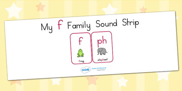 My F Family Sound Strip - sound family, visual aid, literacy