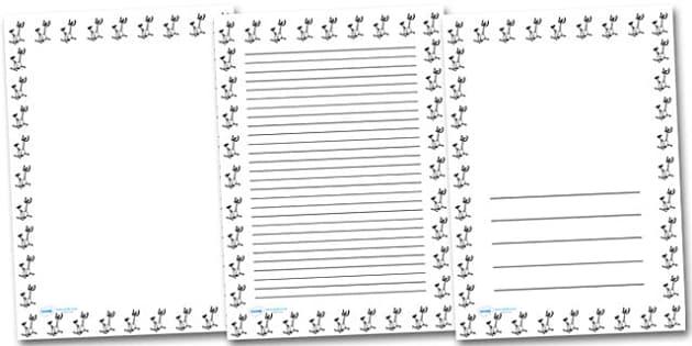 Exercise Bike Portrait Page Borders- Portrait Page Borders - Page border, border, writing template, writing aid, writing frame, a4 border, template, templates, landscape