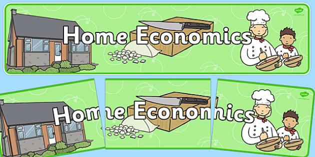 Home Economics Display Banner NZ - nz, new zealand, home economics, display banner