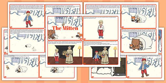 The Mitten Story Cards - the mitten, story, cards, story cards