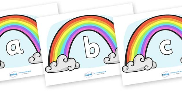 Phase 2 Phonemes on Rainbows - Phonemes, phoneme, Phase 2, Phase two, Foundation, Literacy, Letters and Sounds, DfES, display