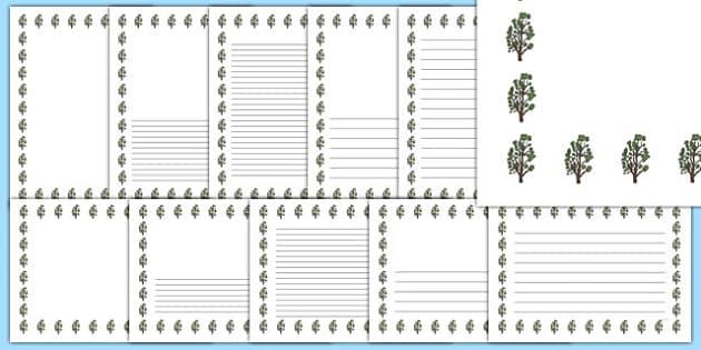 Alder Tree Themed Page Borders - alder tree, page borders, alder, tree, page, borders