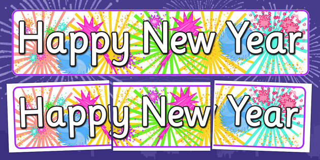 Happy New Year Display Banner - happy, new year, display, banner