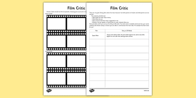 Film Synopsis Activity Sheet - film synopsis, activity, sheet, film, synopsis, worksheet