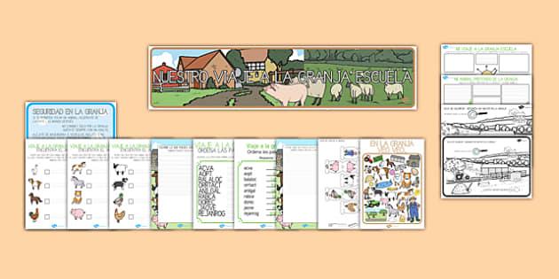 La excursón a la granja escuela Pack de recursos