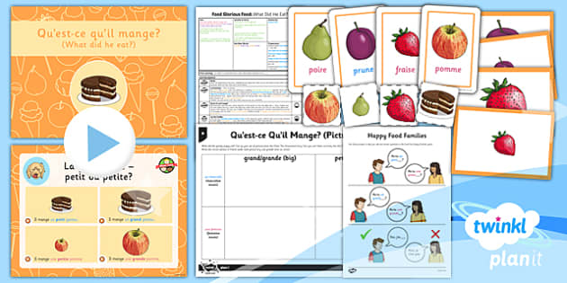 PlanIt - French Year 3 - Food Glorious Food Lesson 5: What Did He Eat? Lesson Pack - french, languages, food, story, dog