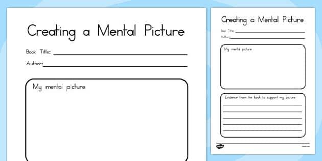 Comprehension: Creating a Mental Picture - australia, comprehension