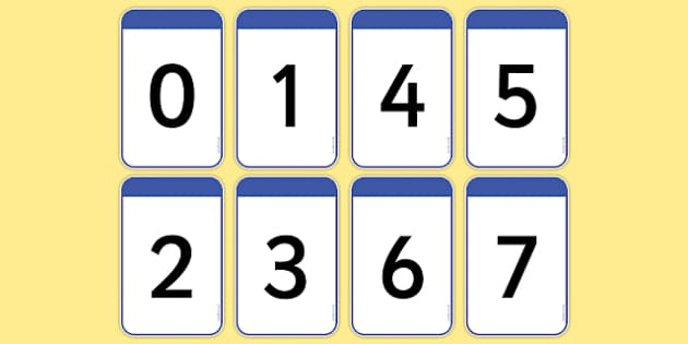 Number Digit Cards 0-20 - numeracy, digit card, math, number recognition, numeracy,numbers,counting,numbers to 20, flash cards