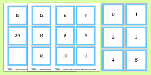 Number Cards 0-20 - Number Digit Cards & Fans Primary Resources, numeracy, flashcards