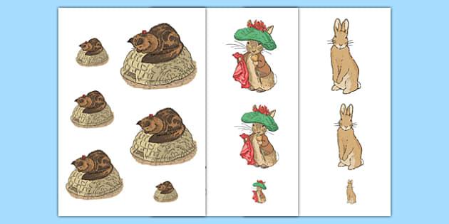 Beatrix Potter - The Tale of Benjamin Bunny Size Ordering - beatrix potter, benjamin bunny