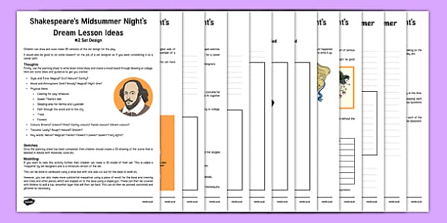 Shakespeare's A Midsummer Night's Dream Lesson Plan Ideas and Resources