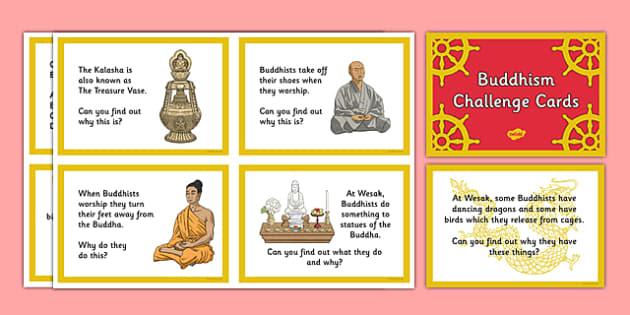 Buddhism Challenge Cards - buddhist, Buddha, India, monk, meditation