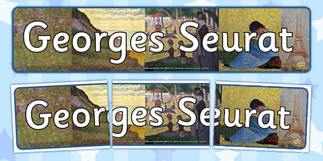 Georges Seurat Display Banner - georges, seurat, display, banner