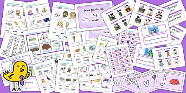 Phase 3 Activity Pack - phase, phase 3, phases, activity pack, literacy, phonics