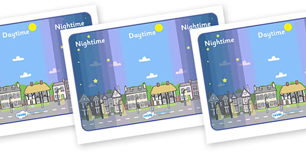 Day and Night Display Posters - Display, banner, poster, Light and Dark, science, day, night, shadow, reflection, reflective, bright, tint, colour, shade