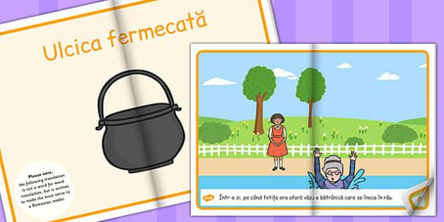 Ulcica Fermecata, rezumat cu imagini, poveste ilustrata, lectura, Romanian