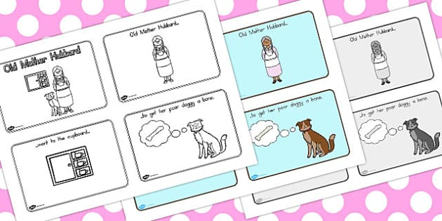 Old Mother Hubbard Story Sequencing 4 Per A4 - australia, story