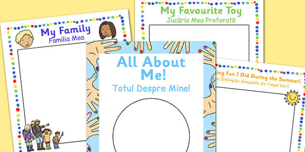 All About Me EYFS Transition Booklet Romanian Translation - romanian