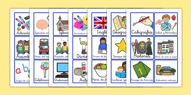 Visual Timetable for KS1 Spanish - spanish, Visual Timetable, SEN, Daily Timetable, School Day, Daily Activities, Daily Routine KS1, Foundation Stage