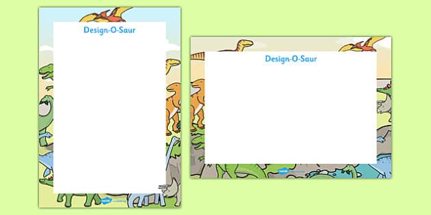 Design O-Saur Sheet - design, o-saur, dinosaur, dinosaurs, design sheet