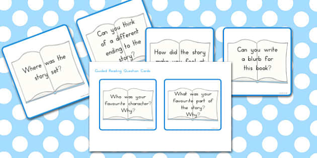 Guided Reading Cards - read, guide, questions, reading, guides