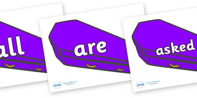 Tricky Words on Speech Bubbles (Plain) - Tricky words, DfES Letters and Sounds, Letters and sounds, display, words