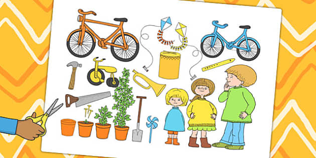 Story Cut Outs to Support Teaching on Titch - stories, story books, cut outs, display