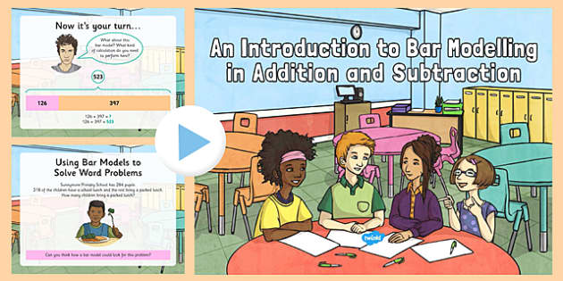 An Introduction to Bar Modelling In Addition and Subtraction Year 3 - Key Stage 2, KS2, Year 3, bar models, bar modelling, Singapore bar, addition, subtraction, missing number calculations, inverse, word problems