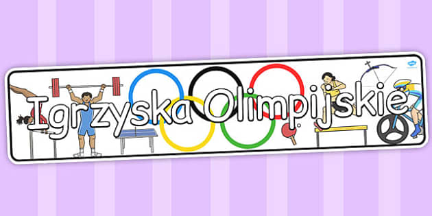 Olimpiada banner na gazetke scienna po polsku - szkola , Polish
