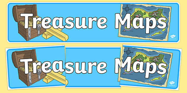 Treasure Maps Display Banner