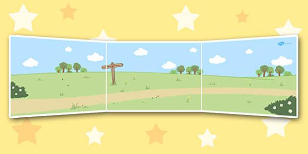 Dick Whittington Small World Background - display, topic, theme