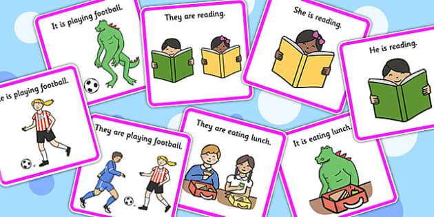 He, She, They And It Pronoun Picture Description Cards - pronouns, SEN