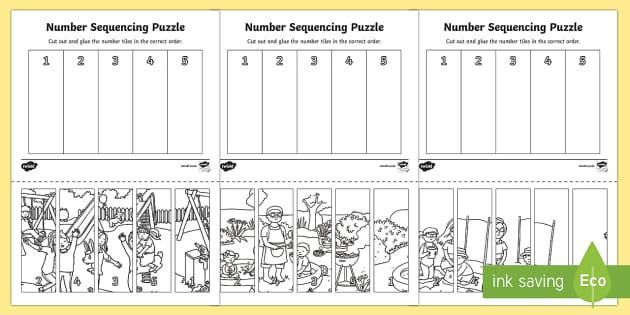 End of Year Themed Number Sequencing Puzzles - End of Year, end of year maths, summer holidays maths, end of the year maths, end of the year, last