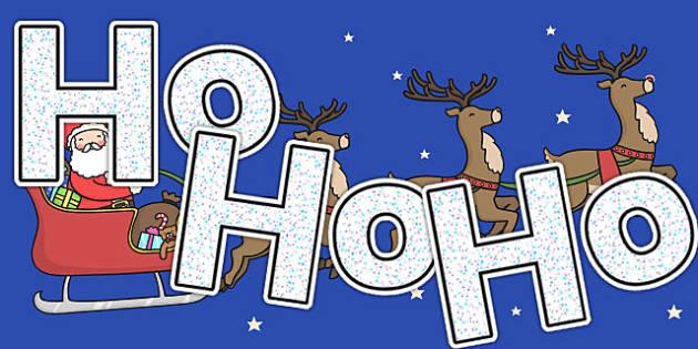 Ho Ho Ho A4 Display Lettering - display lettering, christmas