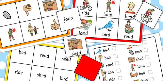 Final 'D' Sound Bingo - games, game, activity, sounds, words, match