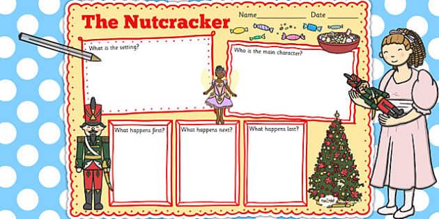 The Nutcracker Story Review Writing Frame - nutcracker, review