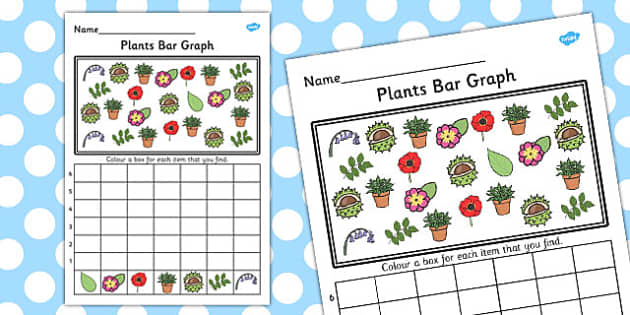 Plants and Growth Bar Graph Activity Worksheet - bar graph, plant
