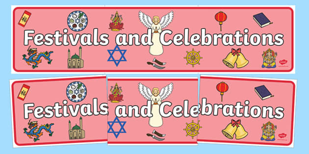 Festivals and Cultural Celebrations Display Banner - festivals