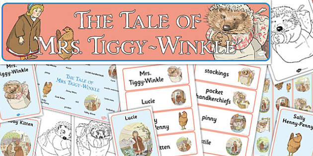 The Tale of Mrs Tiggy Winkle Story Sack - mrs tiggy winkle, story