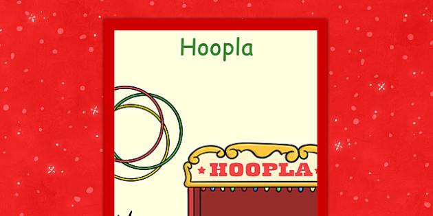 Świąteczny plakat Hoopla po polsku - kiermasz, gry, święta