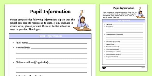 ROI Pupil Information Form Checklist-Irish