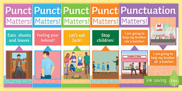 Humorous Punctuation Posters Display Pack