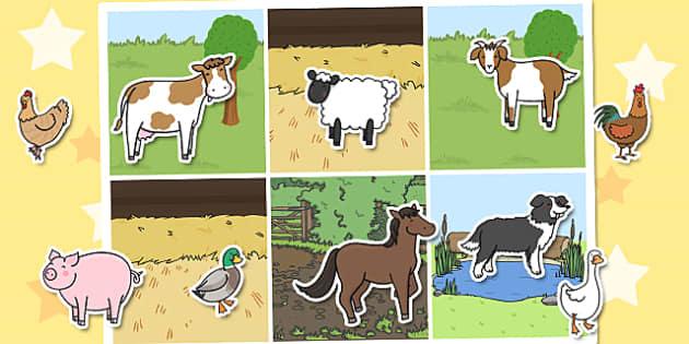 Farm Animal Sorting Activity - farm, animal, sorting, activity