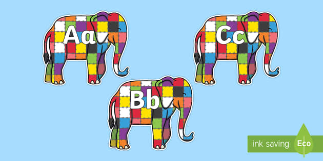 A-Z Alphabet on Elmer to Support Teaching on Elmer - A-Z, A4, display, Alphabet frieze, Display letters, Letter posters, A-Z letters, Alphabet flashcards