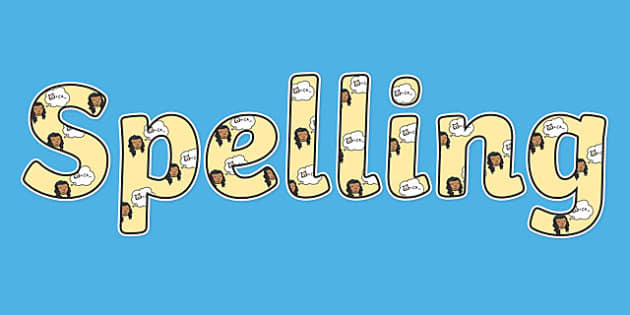 Spelling Display Lettering - English lettering, English display, English display lettering, spelling