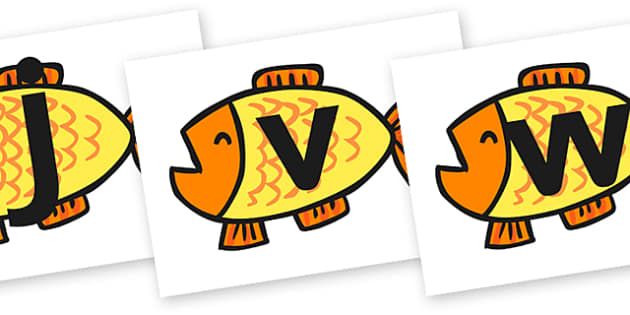 Phase 3 Phonemes on Goldfish to Support Teaching on Brown Bear, Brown Bear - brown bear, phase three, phase 3, letters, literacy, sounds, english, themed letters, phase three images